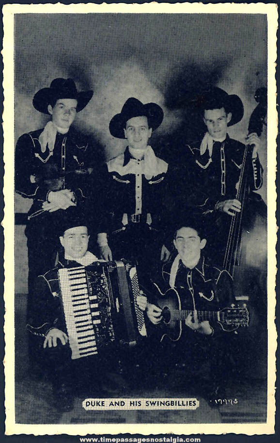 Old Duke and His Swingbillies Country Music Advertising Post Card