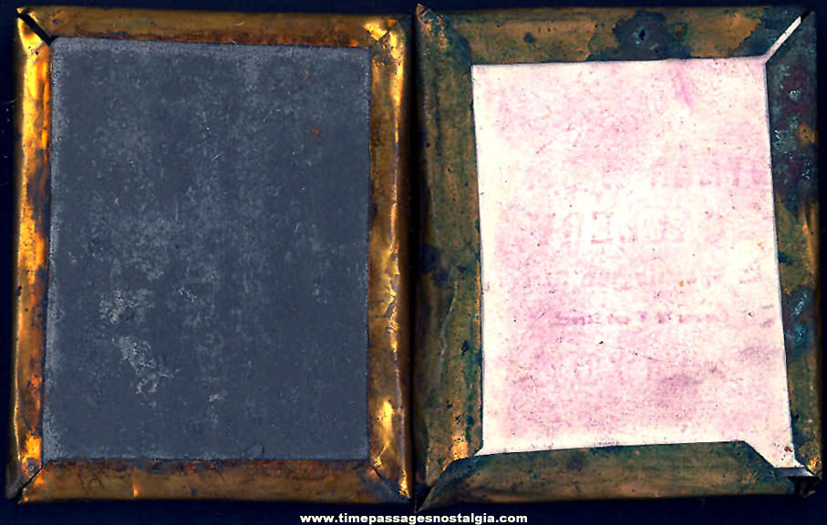 (2) Different 1800s Ambrotype Photographs with Metal Oval Frames