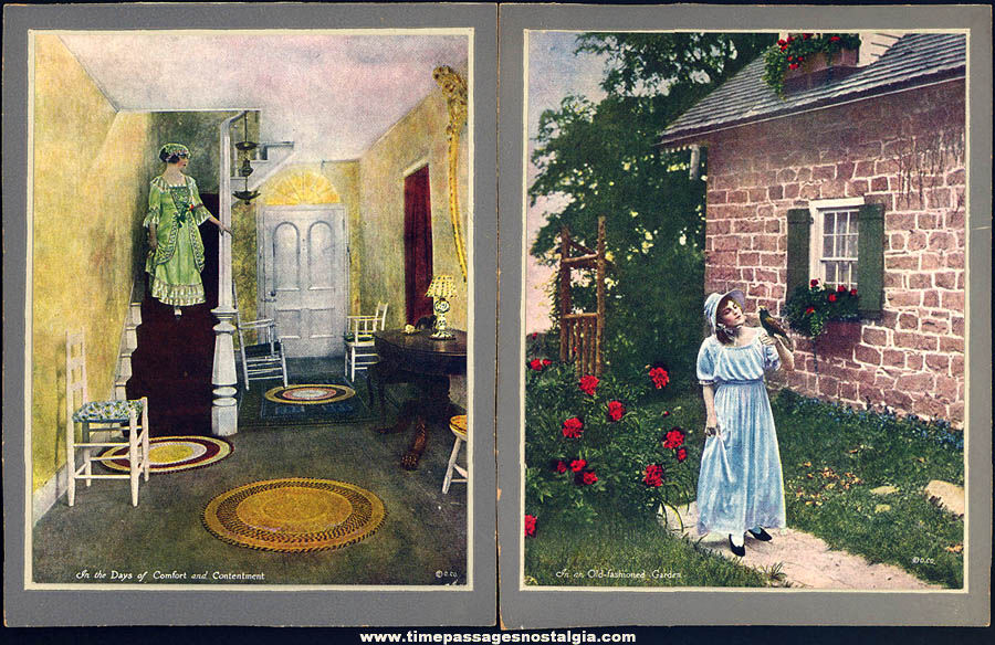 (6) Different Small Colorful Old Pretty Lady Art Prints