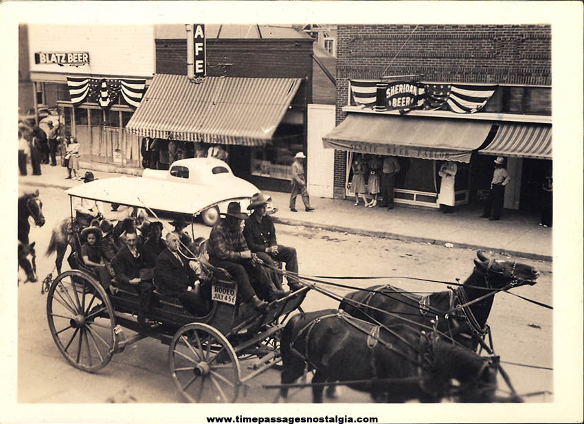 (3) Different Small Old Red Lodge Montana Western Parade Photographs