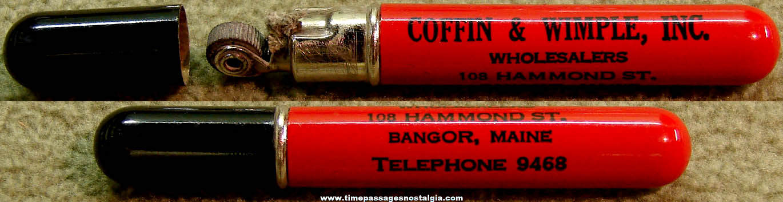 Old Bangor Maine Company Advertising Premium Redilite Cigarette Lighter