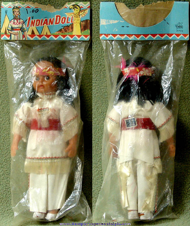 Old Unopened Native American Indian Yinoue Toy Doll