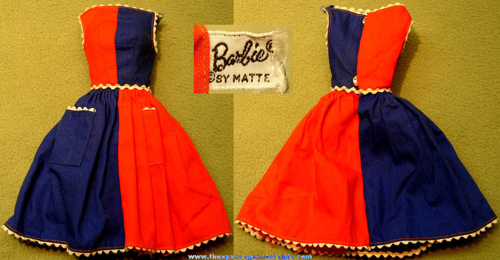 ©1966 Mattel Barbie Character Toy Doll with 1963 Dress