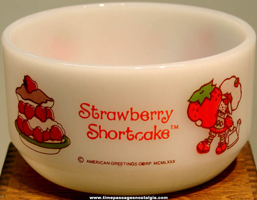 ©1980 American Greetings Corporation Strawberry Shortcake Character Glass Bowl