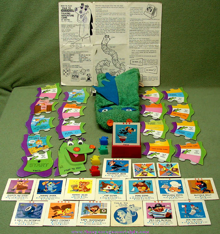 ©1962 Mattel Talk To Cecil Talking Adventure Puppet Game