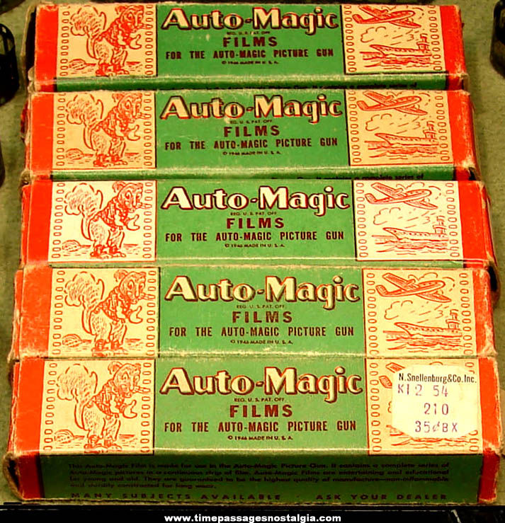 ©1946 Stephens Toy Auto Magic Picture Gun with (15) Film Strips