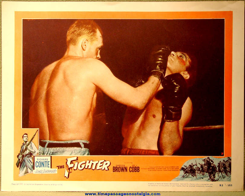 (7) Different ©1952 The Fighter Movie Theatre Advertising Lobby Card Posters