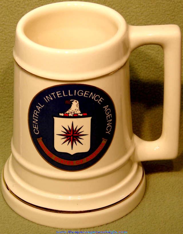 Large United States Central Intelligence Agency CIA Advertising Ceramic Mug