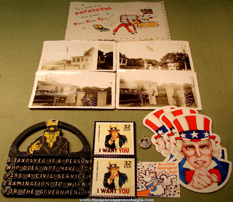 (14) Small United States Uncle Sam Character related Items