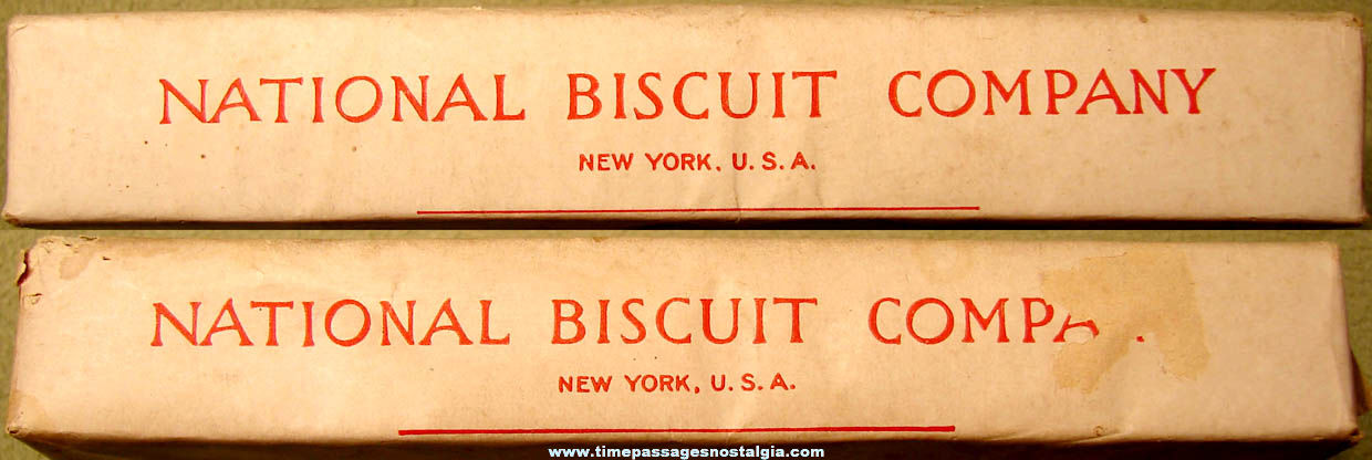 Early National Biscuit Company Nabisco Vanilla Cookie or Crackers Advertising Box