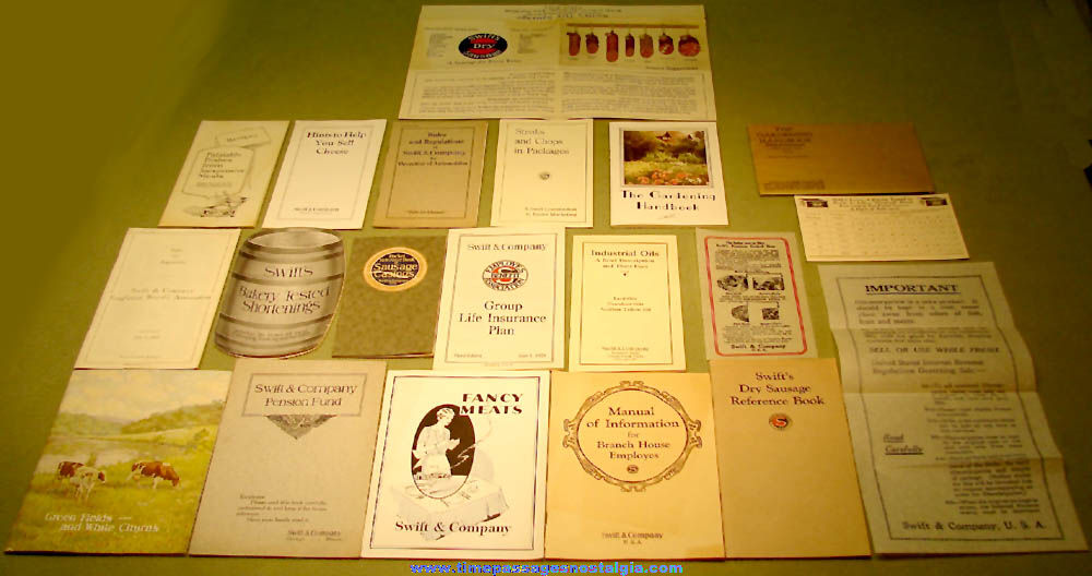 (30) Different 1920s Swift & Company Advertising Booklets & Brochures