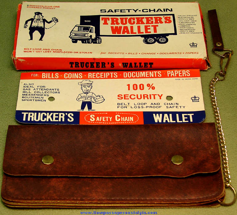 Old Unused & Boxed Deville Safety Chain Trucker Drivers Wallet