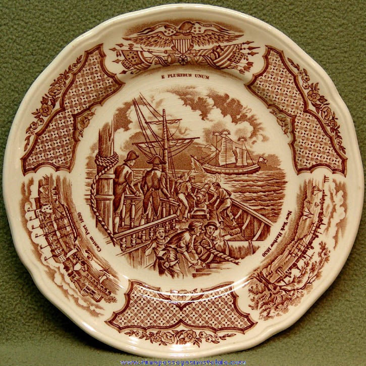 United States Navy U.S.S. Constitution Fair Winds Historic Scenes Commemorative Plate