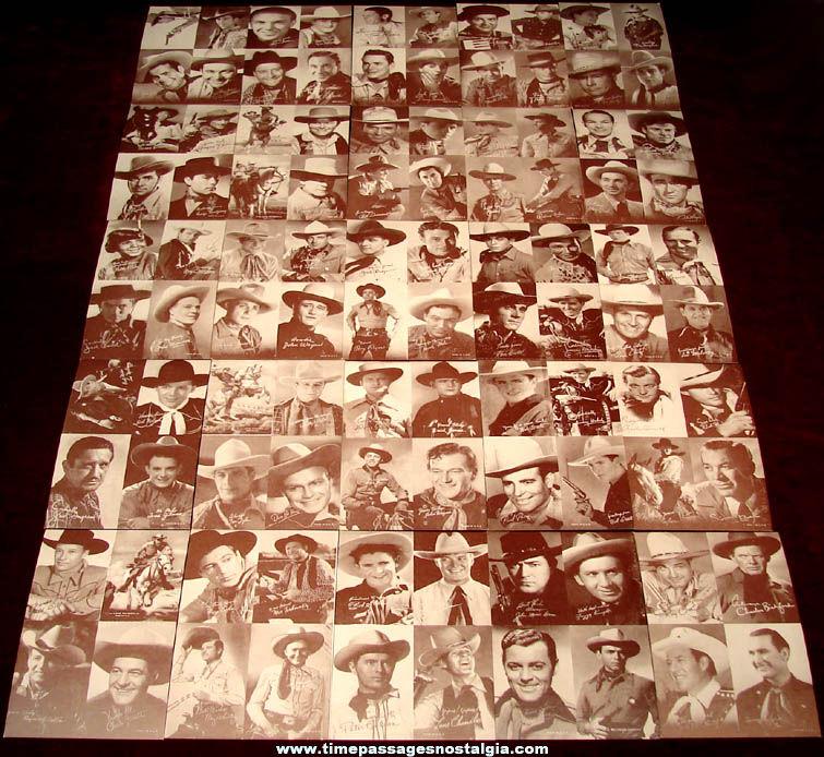 (25) Different Old Western Cowboy Hero Movie Actor Arcade Cards