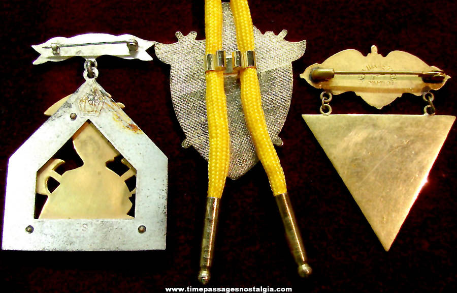 (3) Different Old Knights of Pythias Fraternal Organization Membership Items