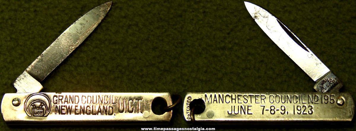 1923 United Commercial Travelers U.C.T. Fraternal Organization Miniature Advertising Pocket Knife