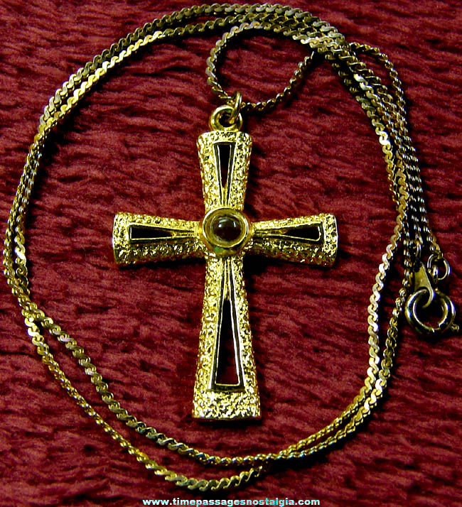 Necklace with Lord's Prayer Stanhope Viewer Cross Pendant or Charm