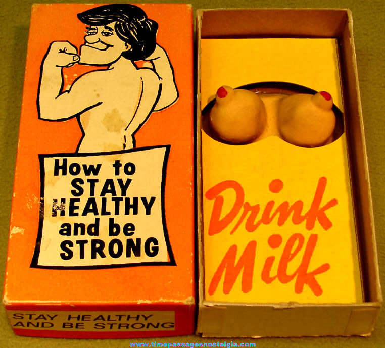 ©1982 Boxed Healthy & Strong Novelty Risque Joke Gag Gift