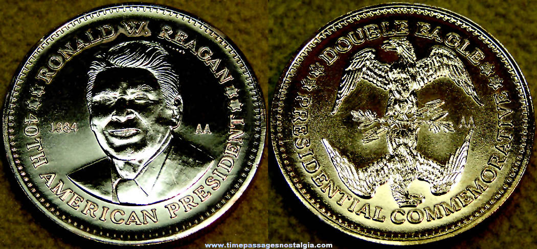 1984 United States President Ronald Reagan Double Eagle Commemorative Token Coin