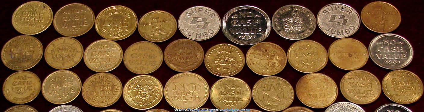 (67) Old Amusement Arcade or Video Game Token Coins
