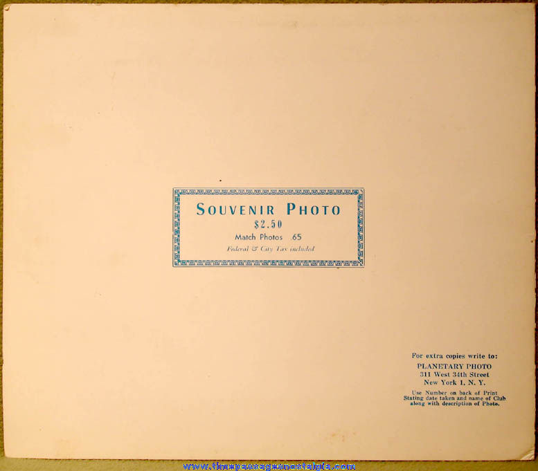 1960s Copacabana Night Club Advertising Souvenir Photograph Folder