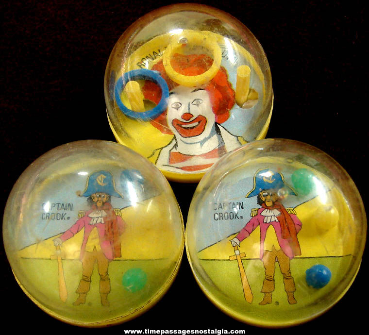 (3) ©1979 McDonald's Restaurant Advertising Character Toy Dexterity Puzzles