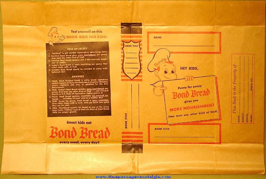 Old Bond Bread Advertising Premium Paper