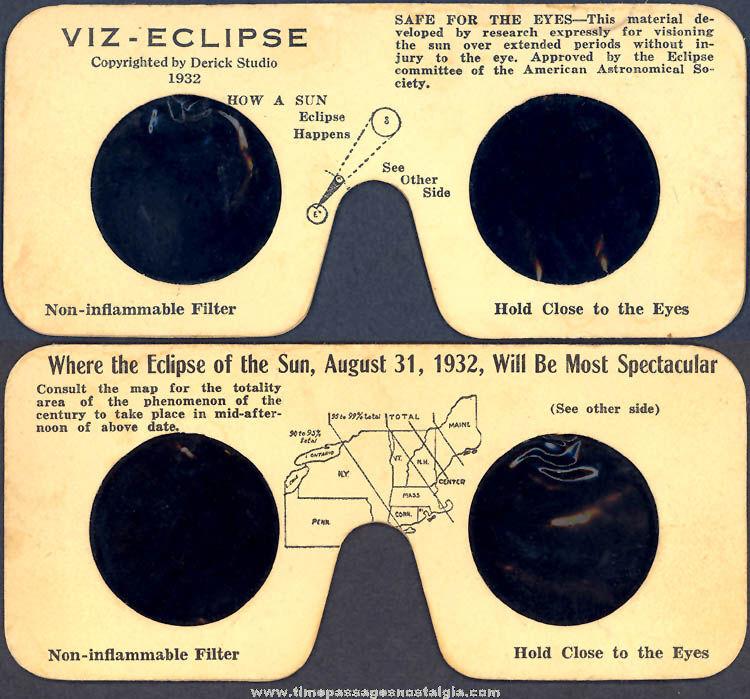 ©1932 Solar Eclipse VIZ - Eclipse Viewing Filter