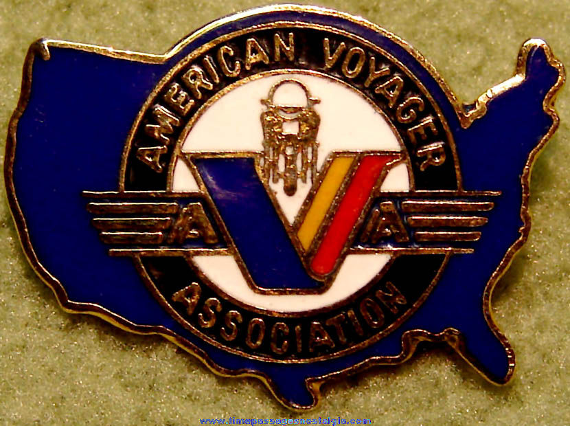 American Voyager Association AVA Membership Enameled Advertising Pin