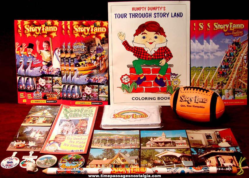 (27) Story Land Amusement Park Glen New Hampshire Advertising and Souvenir Items