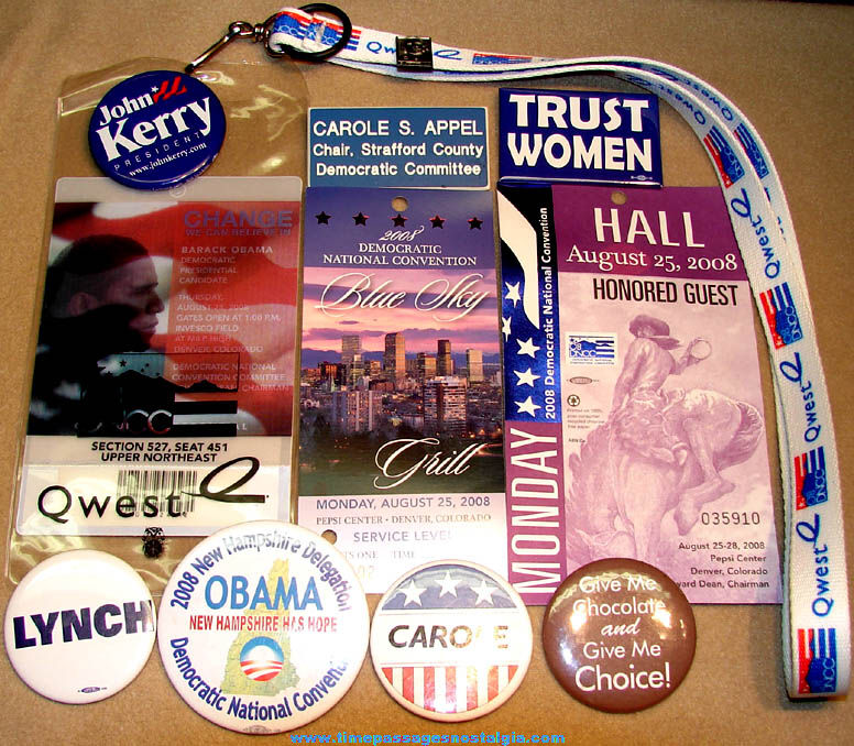 (12) Different 2008 Democratic National Convention Committee Items