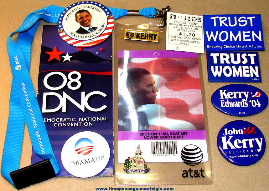 (12) Different 2004 & 2008 Democratic National Convention Committee Items