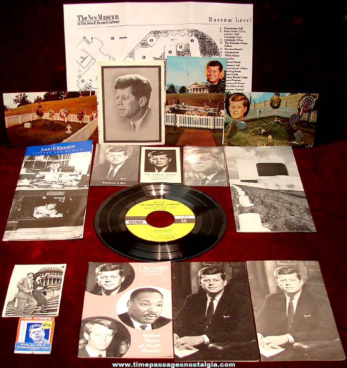 (18) Different Small Old U.S. President John F. Kennedy Related Items