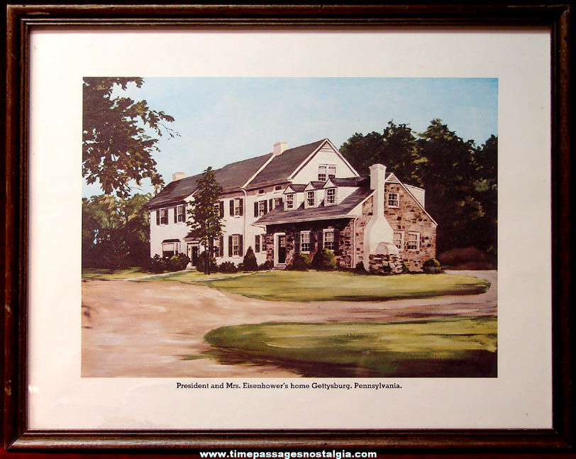 Old U.S. President Dwight D. Eisenhower Gettysburg Pennsylvania Home Framed Art Print