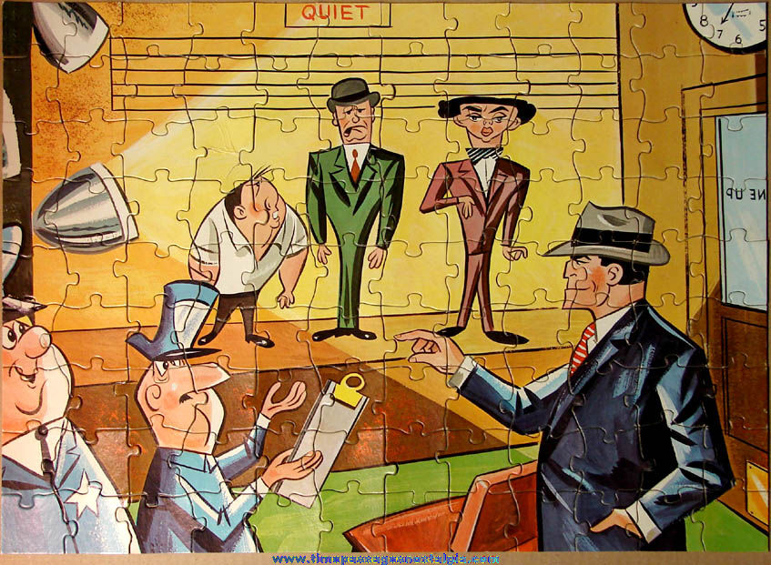Colorful Old Boxed Dick Tracy Comic Strip Detective Character Jaymar Jigsaw Puzzle