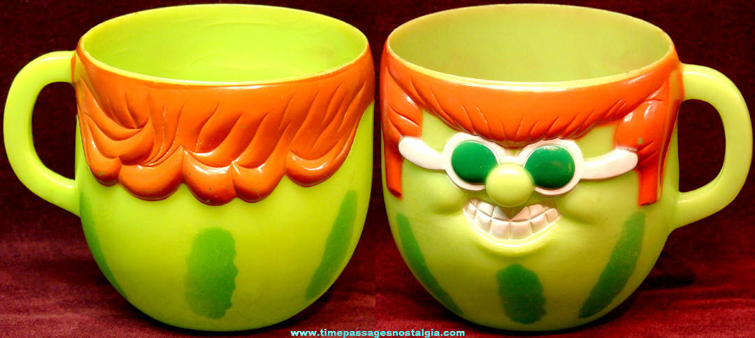 ©1974 Pillsbury Funny Face Drink Mix With It Watermelon Advertising Character Premium Mug