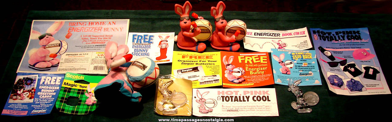 (15) Energizer Bunny Rabbit Advertising Character and Premium Items