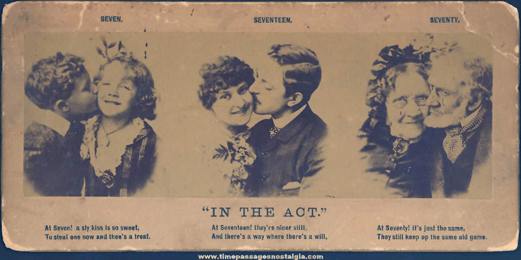 Old In The Act of Kissing Photograph Card