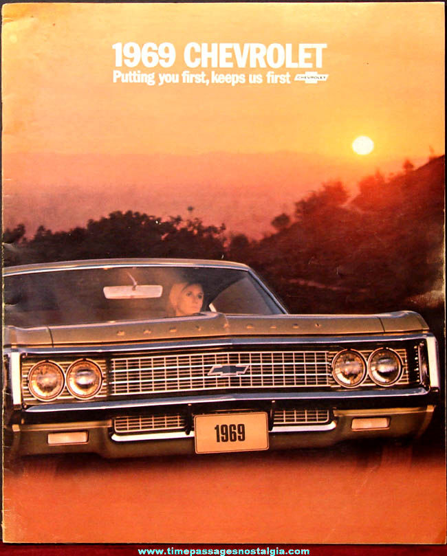 1969 Chevrolet Caprice & Impala & More Automobile Dealership Advertising Booklet