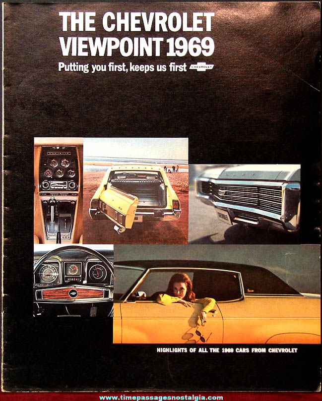 1969 Chevrolet Viewpoint Automobile Dealership Advertising Booklet