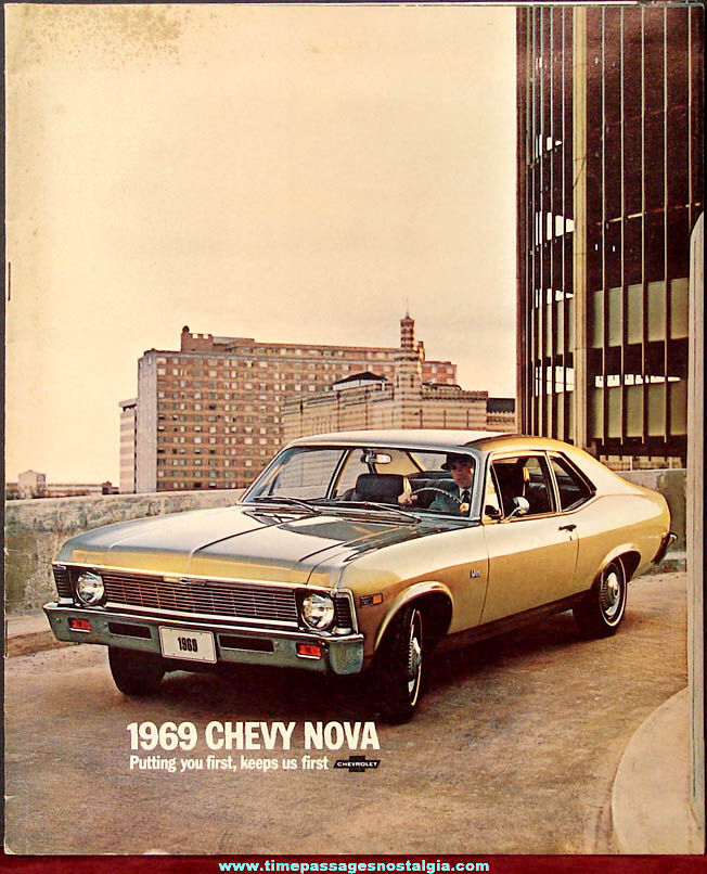 1969 Chevy Nova Automobile Dealership Advertising Booklet