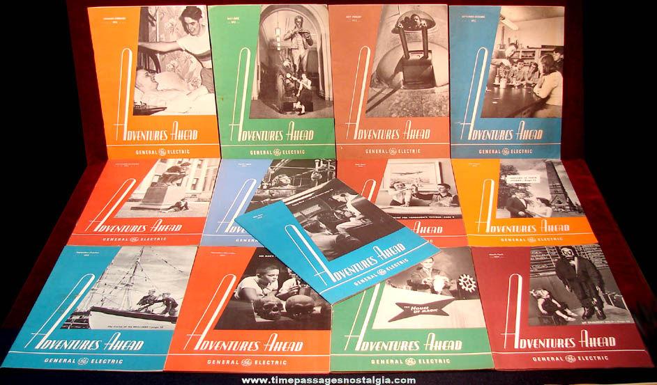 (13) 1952 - 1954 General Electric Company Adventures Ahead Employee Magazines