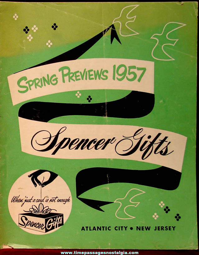 1957 Spencer Gifts Spring Preview Novelty Mail Order Gift Catalog