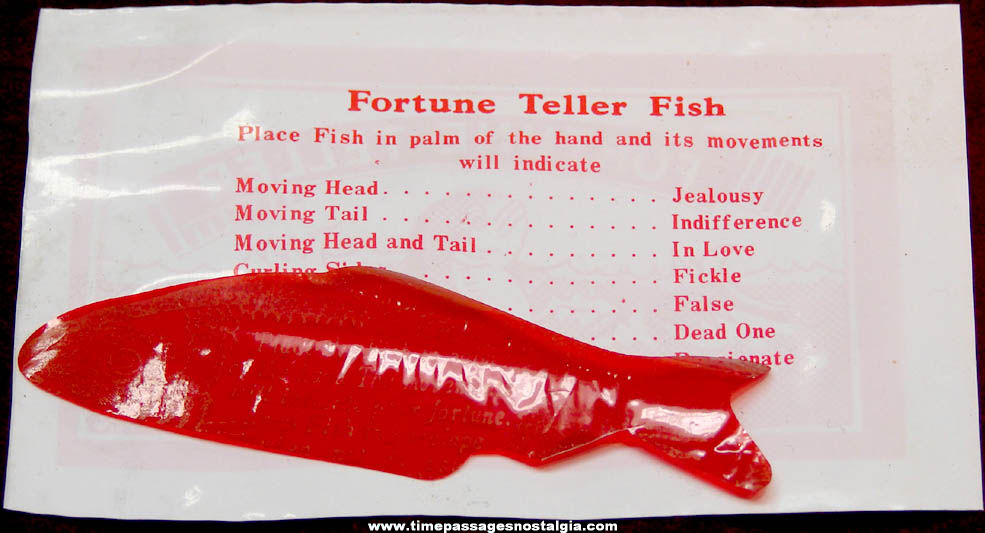 (23) Old Novelty Fortune Teller Miracle Fish with Envelopes