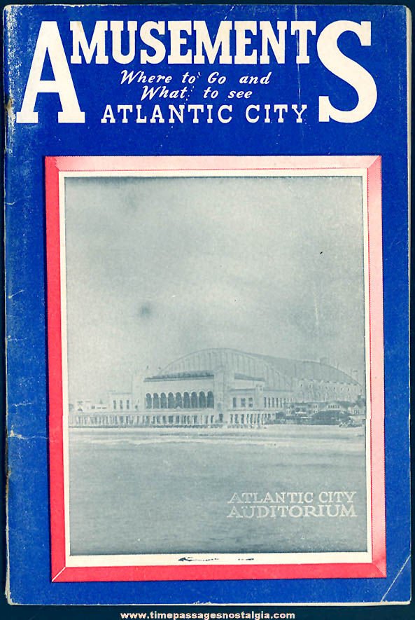 1958 Atlantic City New Jersey Amusements and Advertising Booklet