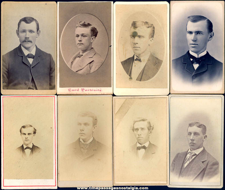 (8) Different Old Man or Men Carte De Visite CDV Photograph Cards