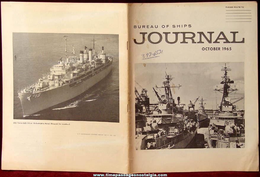 United States Navy October 1965 Bureau of Ships Journal