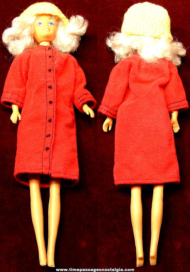 Old Unidentified Toy Woman Doll with Clothes