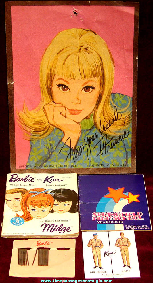 (5) Different Small Old Mattel Barbie Doll & Friends Advertising Items