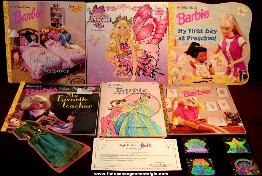 (12) Different Mattel Barbie Doll Related Items + bonus